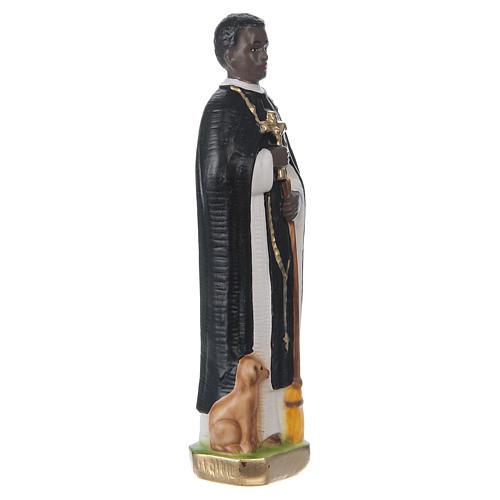 Estatua de yeso pintado San Martín de Porres 20 cm 4