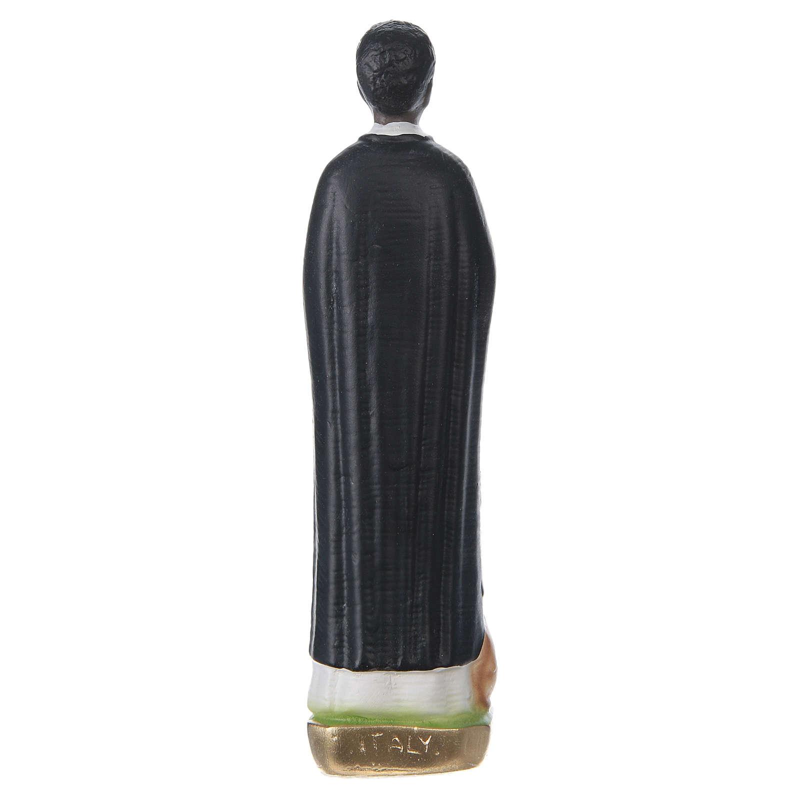 Statue en plâtre peint Saint Martin de Porres 20 cm 4