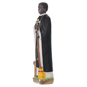 Statue en plâtre peint Saint Martin de Porres 20 cm s3