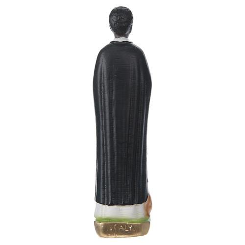 Statua in gesso dipinto San Martino di Porres 20 cm 5