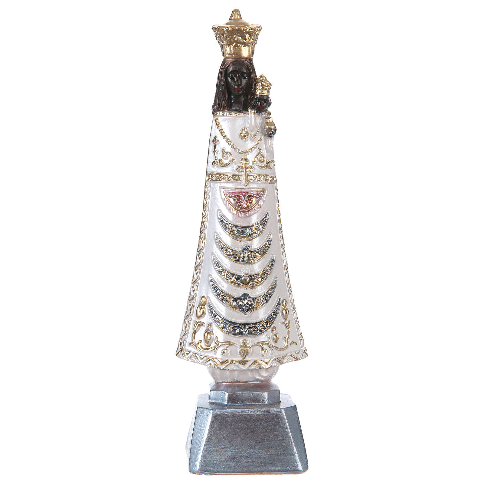Statue of Madonna of Loreto in Plaster with mother of pearl, 20 cm 4