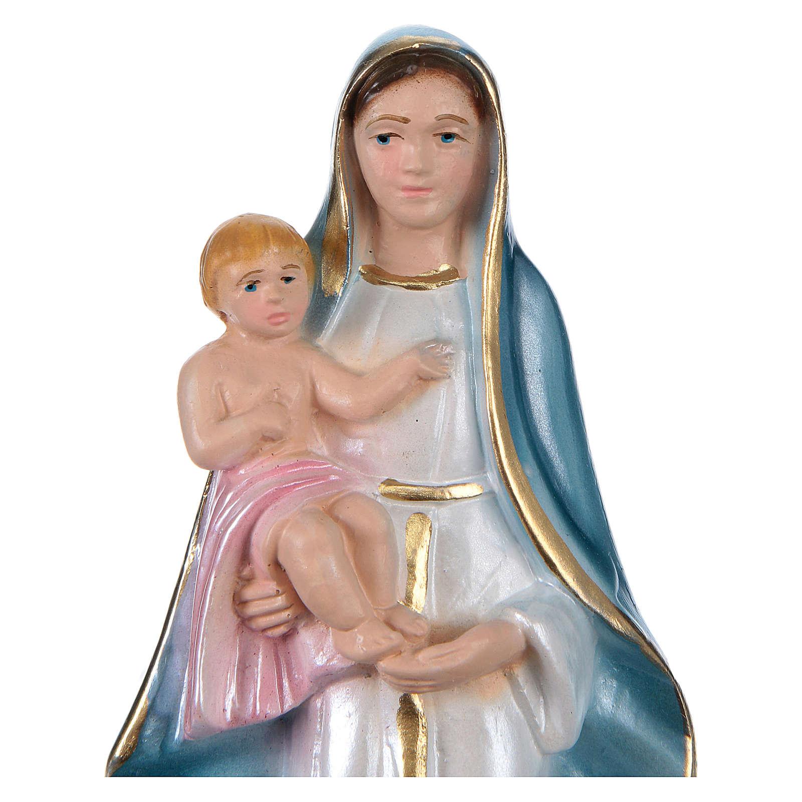 Gottesmutter von Oliveto Citra 15cm perlmuttartigen Gips 4