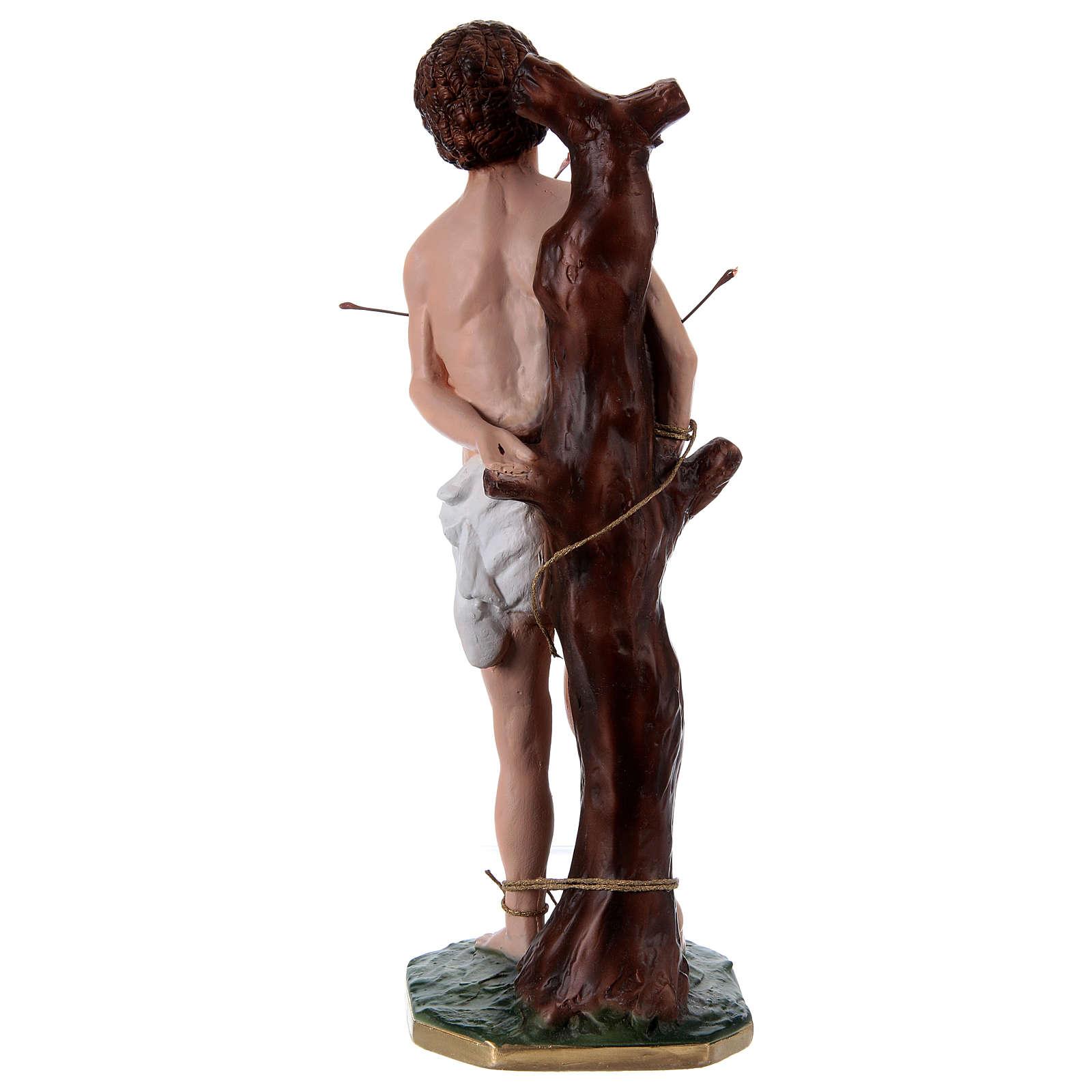 St Sebastian 40 cm in plaster 4
