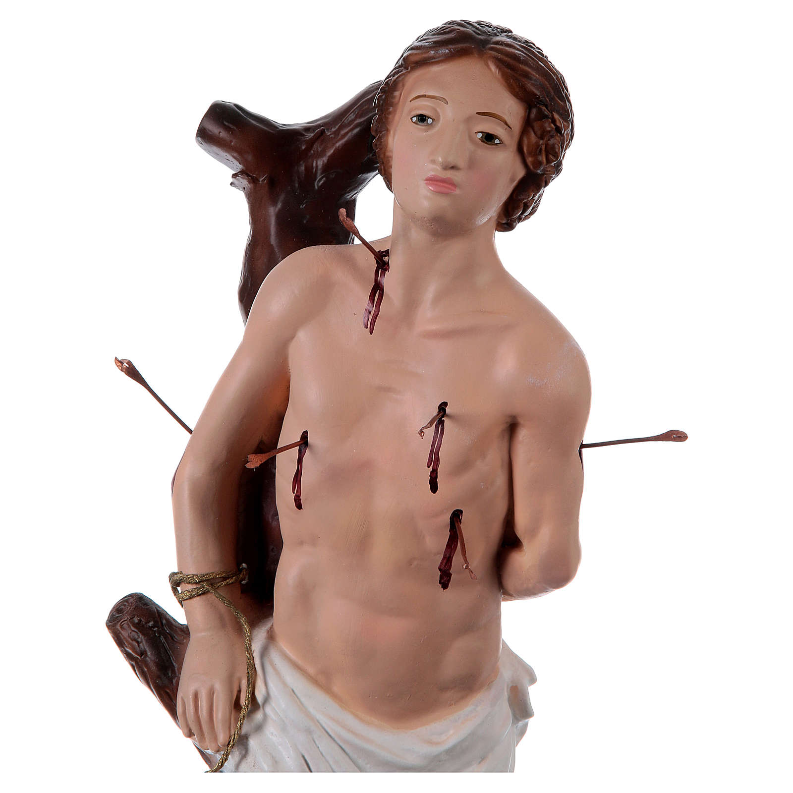 Statue en plâtre Saint Sébastien 40 cm 4