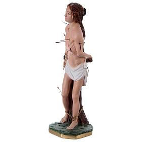 Statue en plâtre Saint Sébastien 40 cm s3