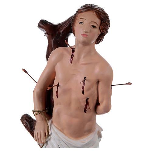 Statua in gesso San Sebastiano 40 cm 2