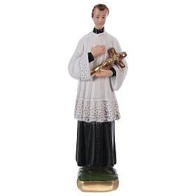 Statua San Luigi Gonzaga gesso h 20 cm s1