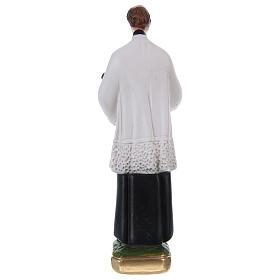 Statua San Luigi Gonzaga gesso h 20 cm s4