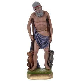 Imagens em Gesso: São Lázaro 20 cm gesso pintado