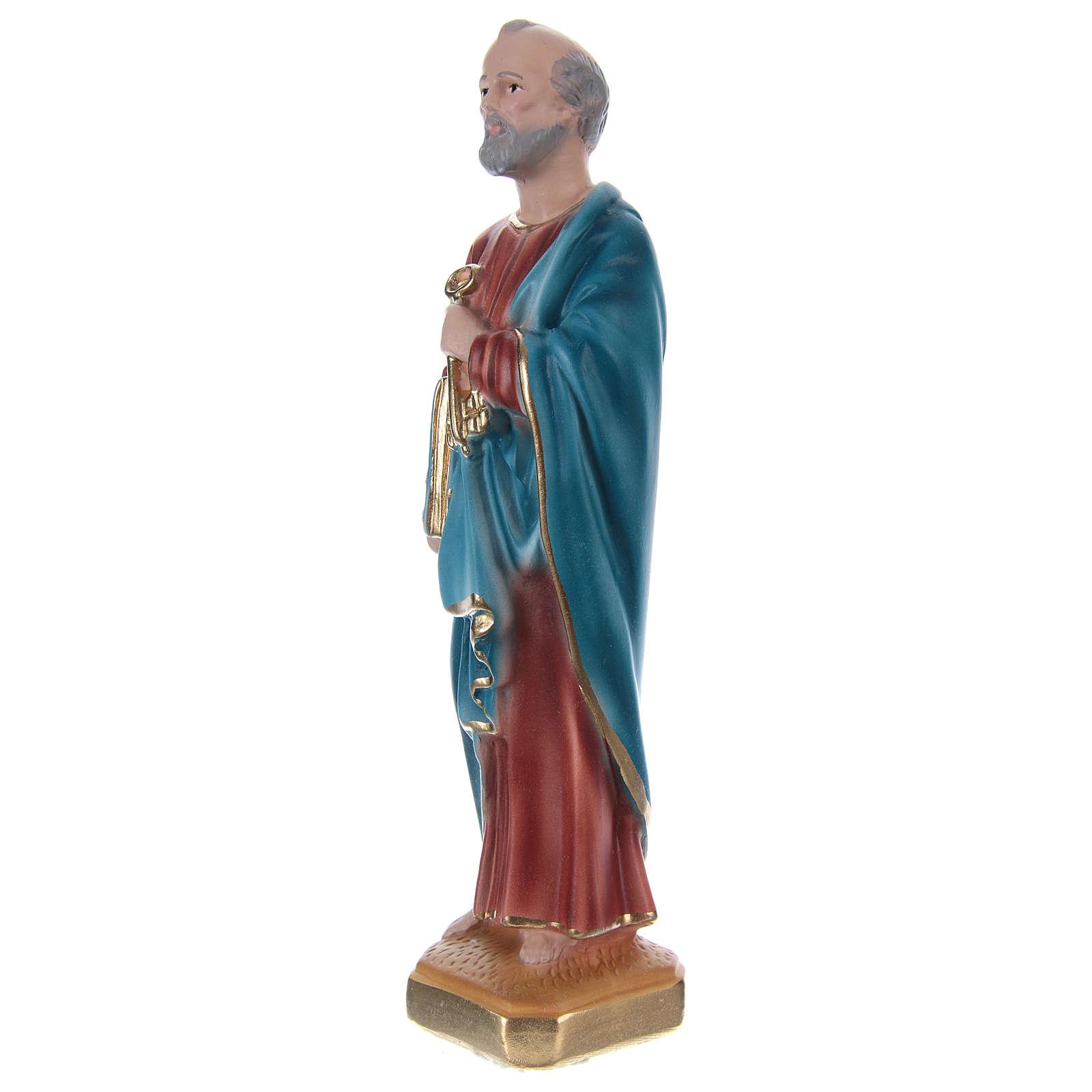 San Pietro 20 cm gesso dipinto 4