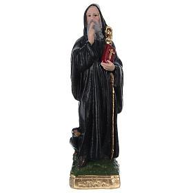 St Benedict 20 cm in painted plaster s1