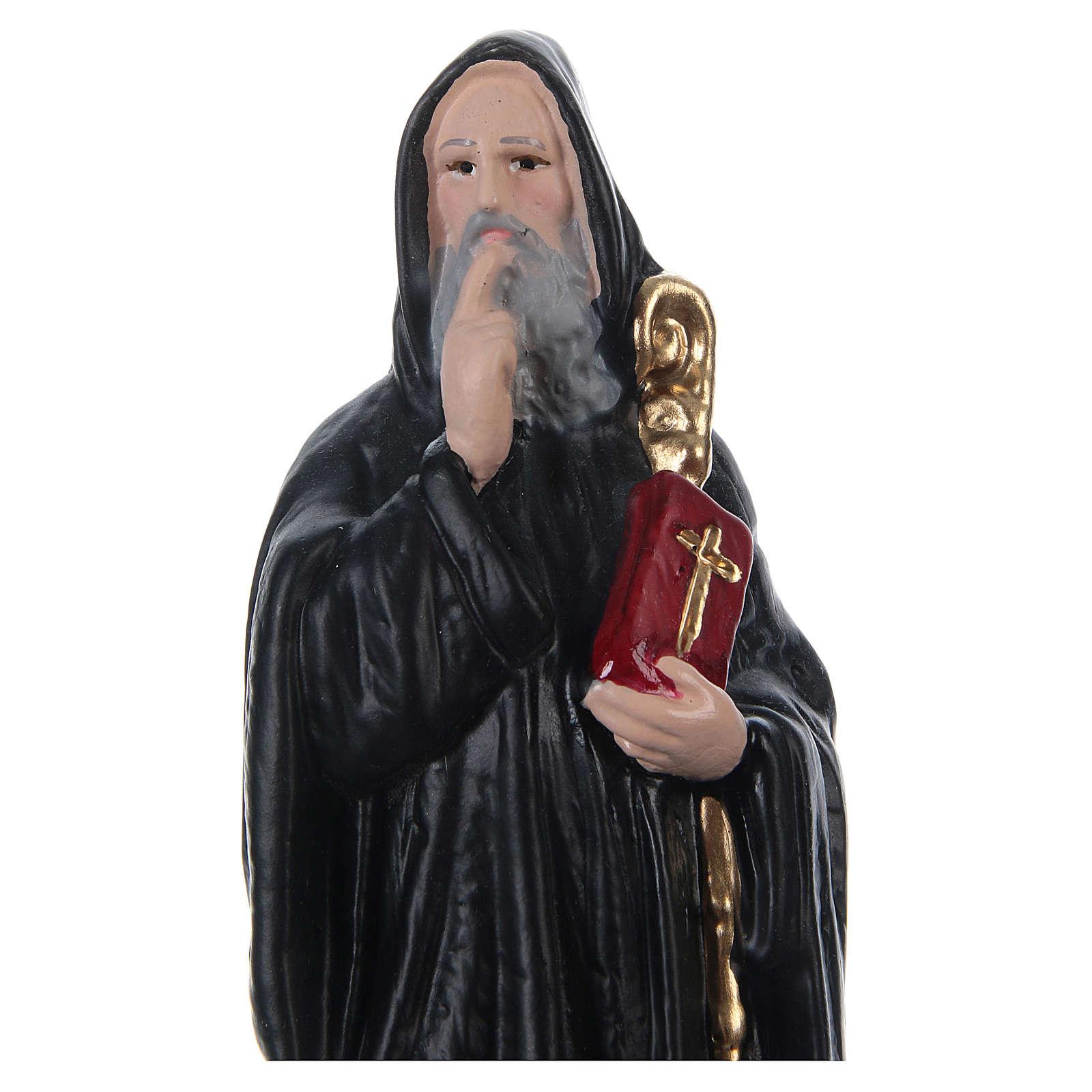 San Benedicto 20 cm yeso pintado 4