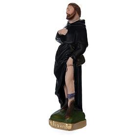 Saint Pèlerin 20 cm plâtre peint s3