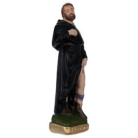 Saint Pèlerin 20 cm plâtre peint s4