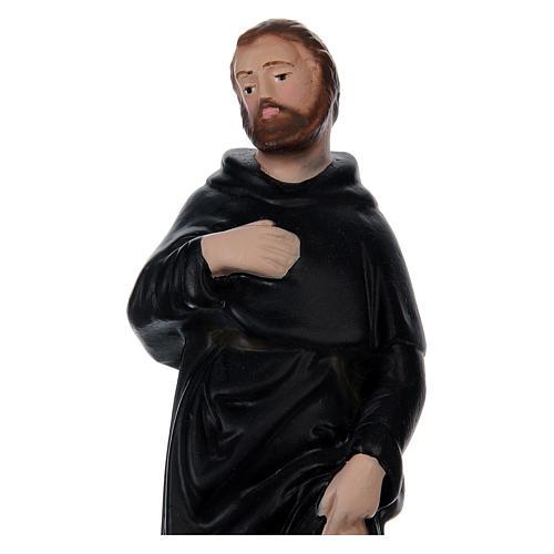 Saint Pèlerin 20 cm plâtre peint 2
