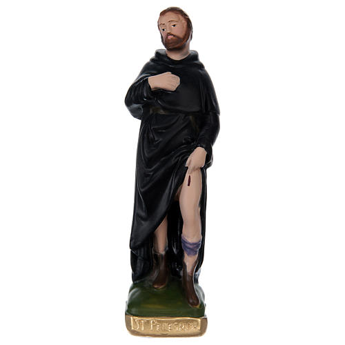 Saint Peregrine Statue, 20 cm in painted plaster 1