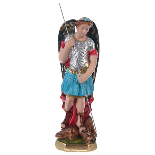 St Michael 20 cm in painted plaster 1