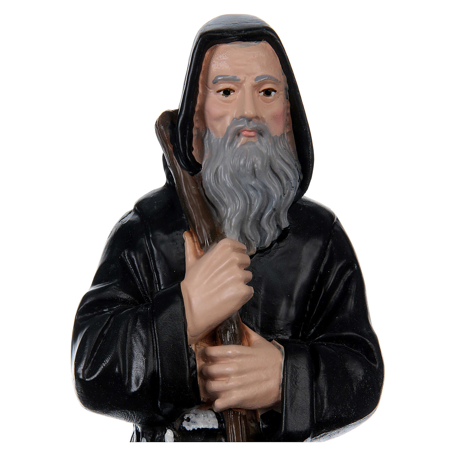 St. Francis of Paola, 20 cm, in painted plaster 4