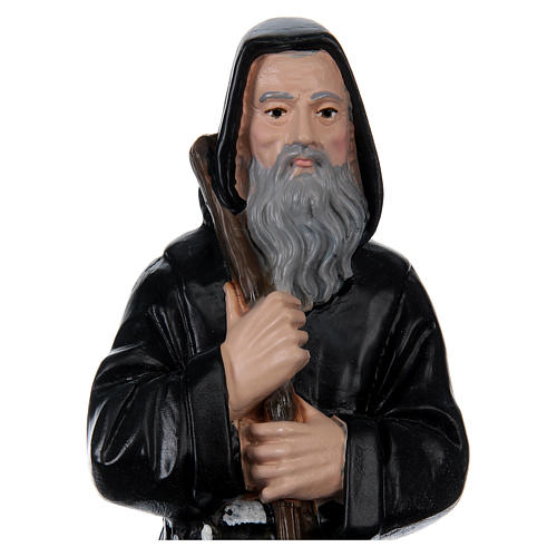 St. Francis of Paola, 20 cm, in painted plaster 2