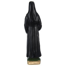 Estatua de yeso pintado Sor Faustina 20 cm s4