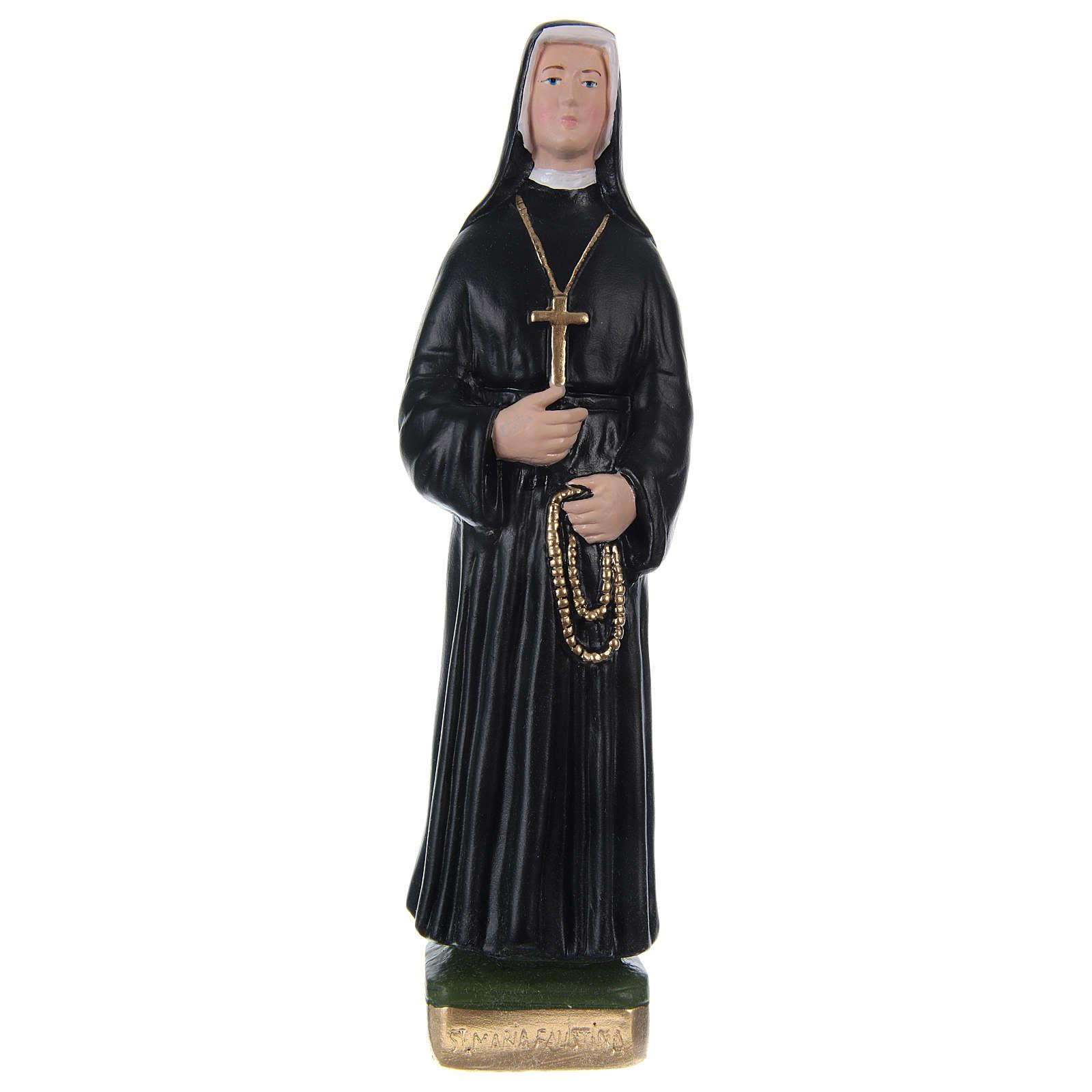 Statua in gesso dipinto Suor Faustina 20 cm  4
