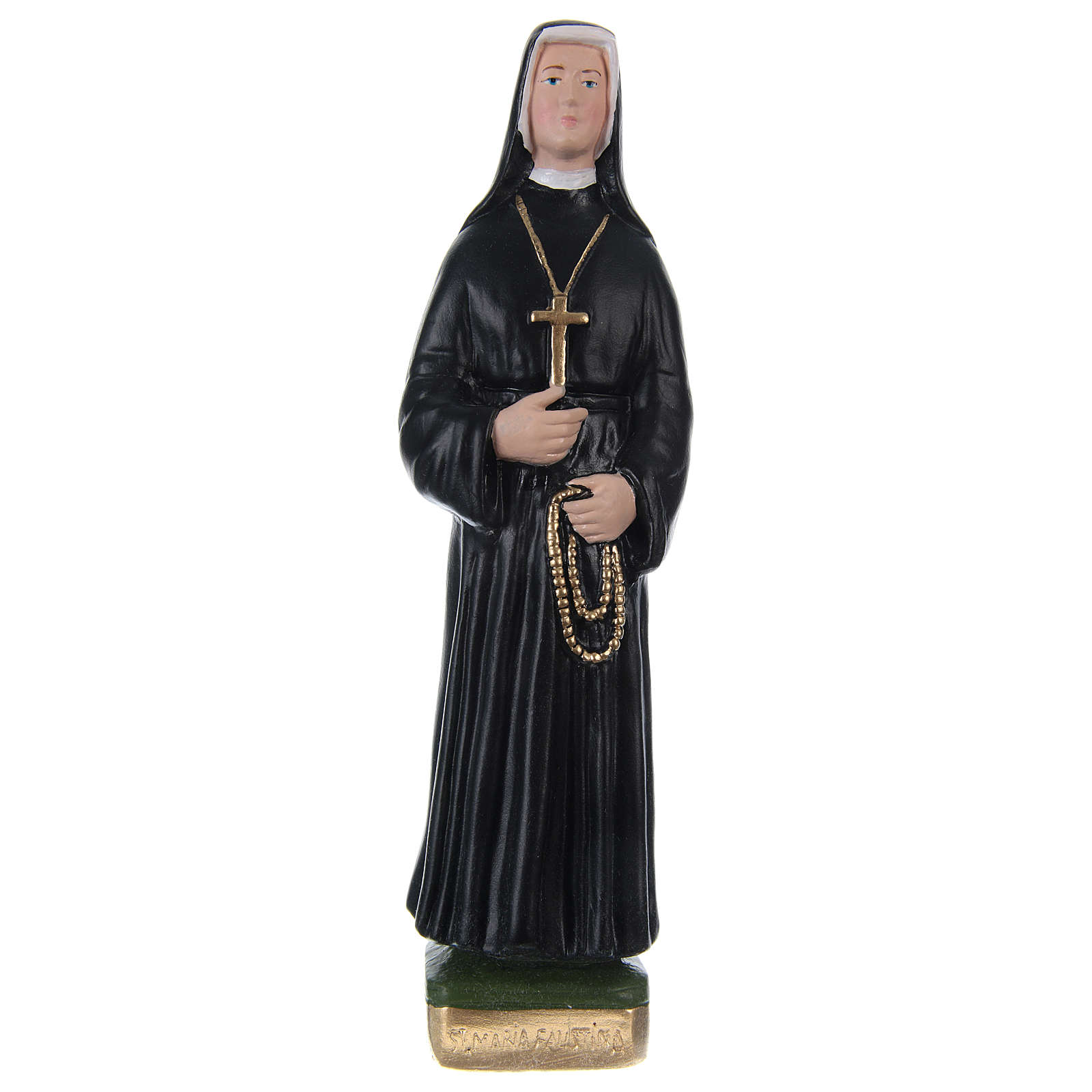 Sister St. Faustina Statue in painted plaster, 20 cm 4