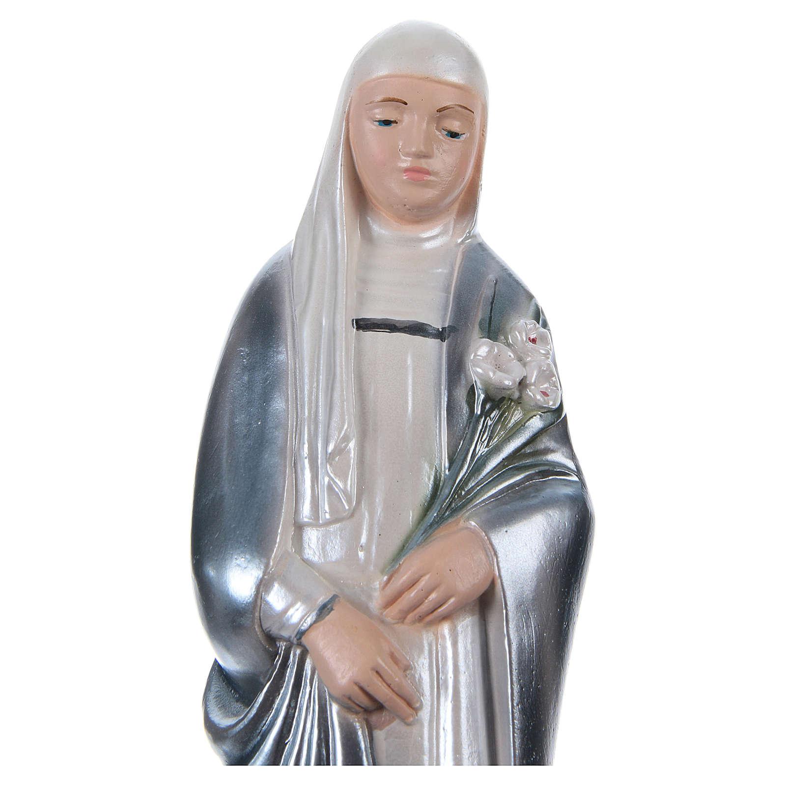 Statue plâtre nacré Sainte Catherine de Sienne 20 cm 4