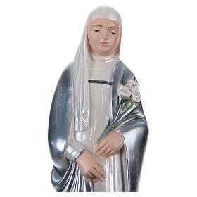 Statue plâtre nacré Sainte Catherine de Sienne 20 cm s2