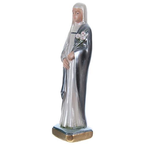 Statue plâtre nacré Sainte Catherine de Sienne 20 cm 3