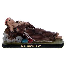 Imagens em Gesso: Santa Rosália deitada 10x15x5 cm gesso