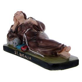 Santa Rosália deitada 10x15x5 cm gesso s2