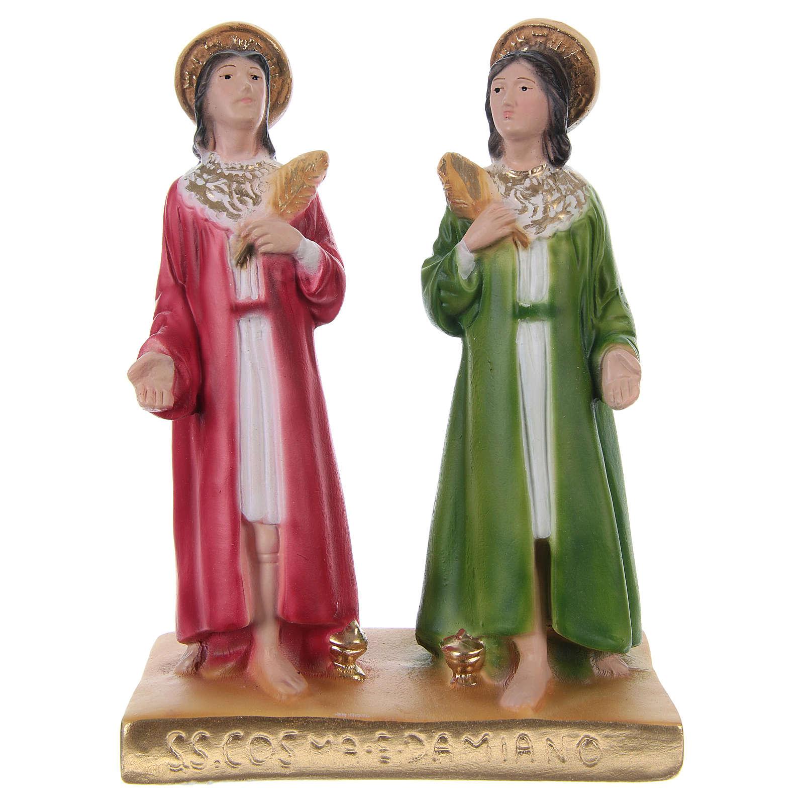 Cosma y Damián 20 cm estatua de yeso 4