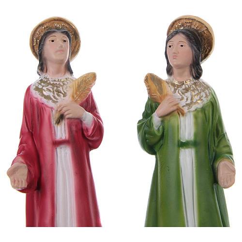 Cosma y Damián 20 cm estatua de yeso 2