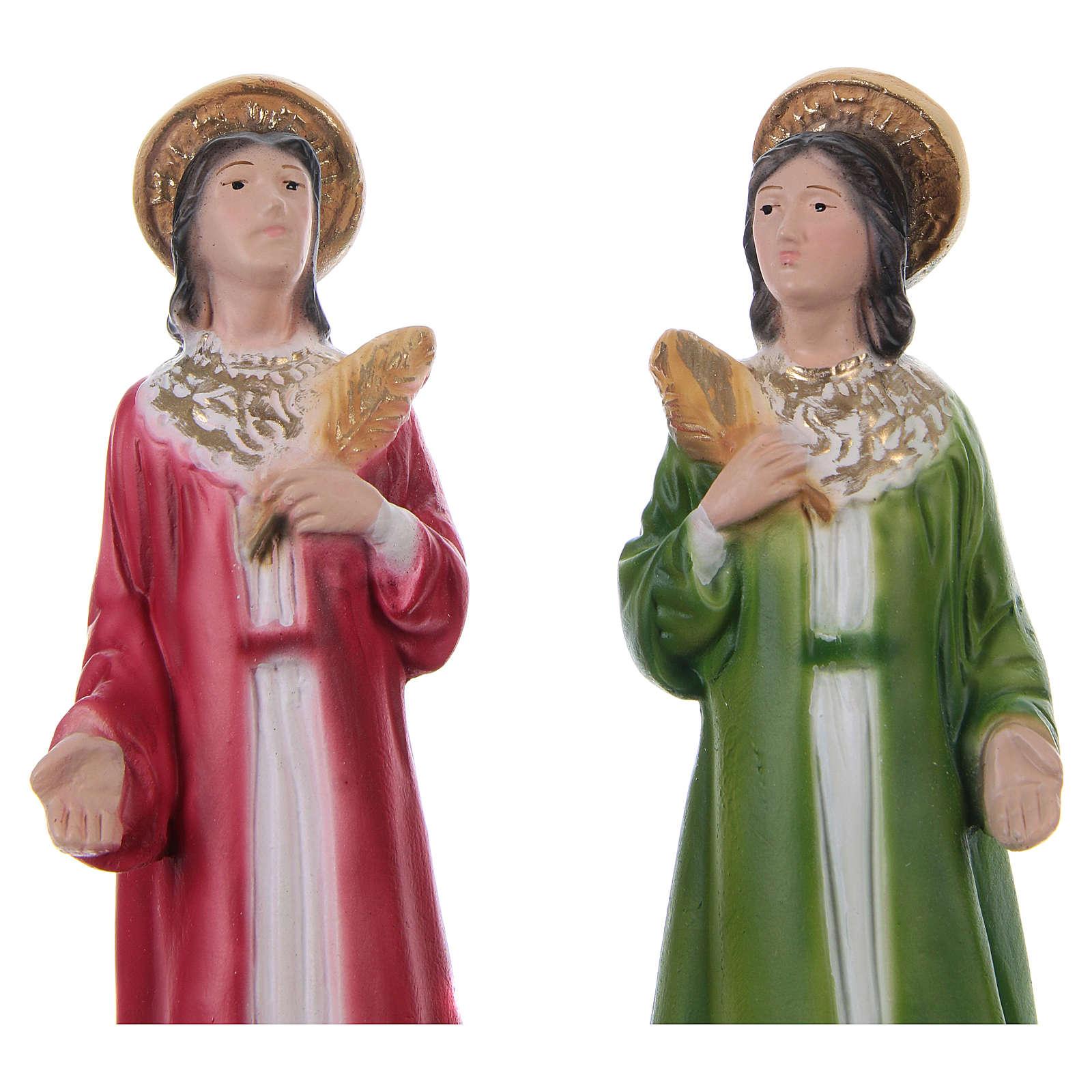 Côme et Damien 20 cm statue en plâtre 4