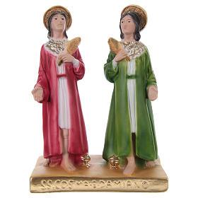 Côme et Damien 20 cm statue en plâtre s1
