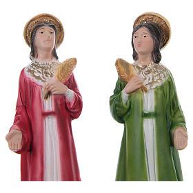Côme et Damien 20 cm statue en plâtre s2