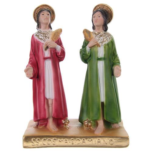 Côme et Damien 20 cm statue en plâtre 1