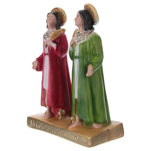 Côme et Damien 20 cm statue en plâtre 3