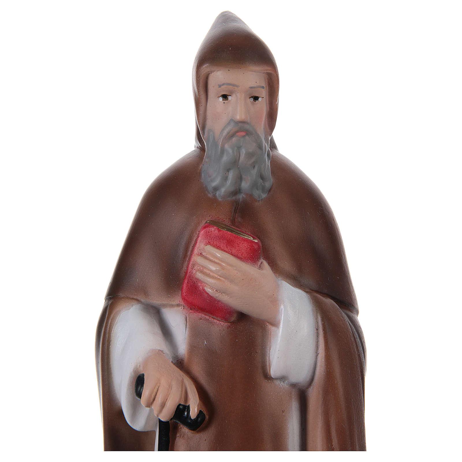Święty Antoni Wielki Opat z gipsu 20 cm 4