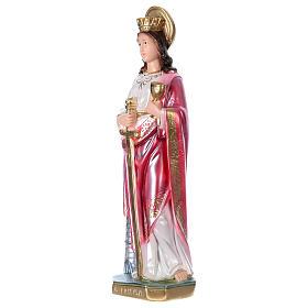Heilige Barbara mit Schwert 35cm perlmuttartigen Gips s3