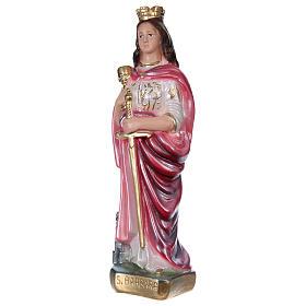 Sainte Barbe 20 cm plâtre nacré s3