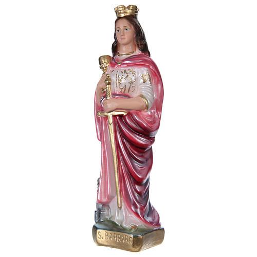 Sainte Barbe 20 cm plâtre nacré 3