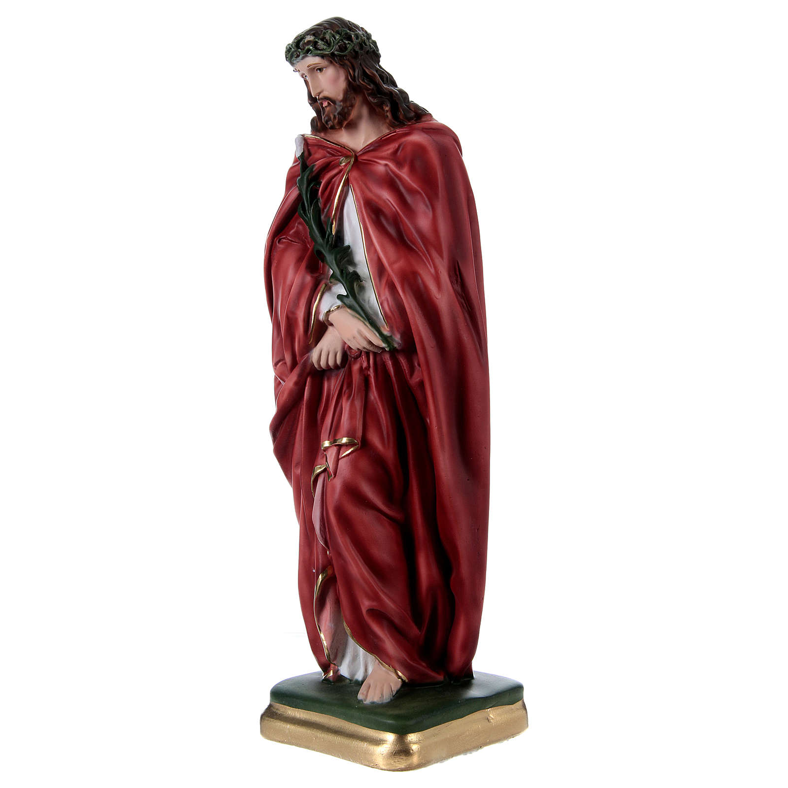 Ecce Homo 40 cm in mother-of-pearl plaster 4