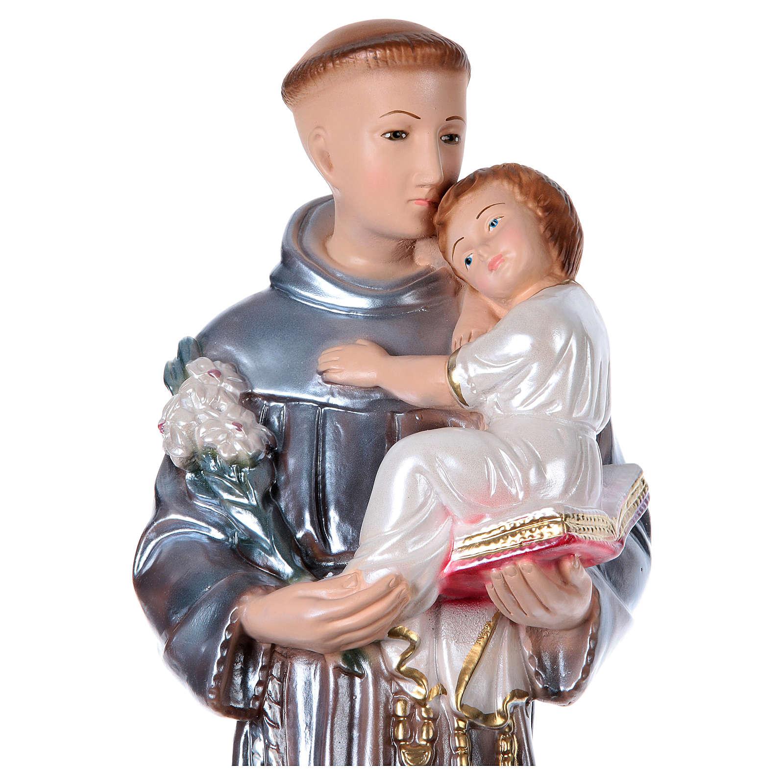 Sant'Antonio 50 cm gesso madreperlato 4