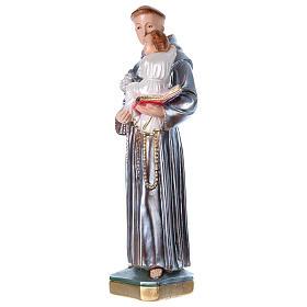 Sant'Antonio 50 cm gesso madreperlato s3