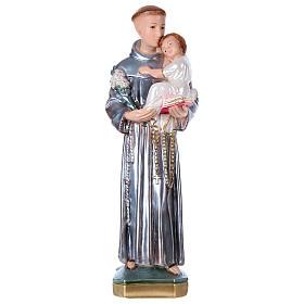 Imagens em Gesso: Santo António 50 cm gesso nacarado