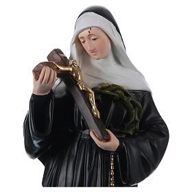 Santa Rita 50 cm imagem em gesso pintado