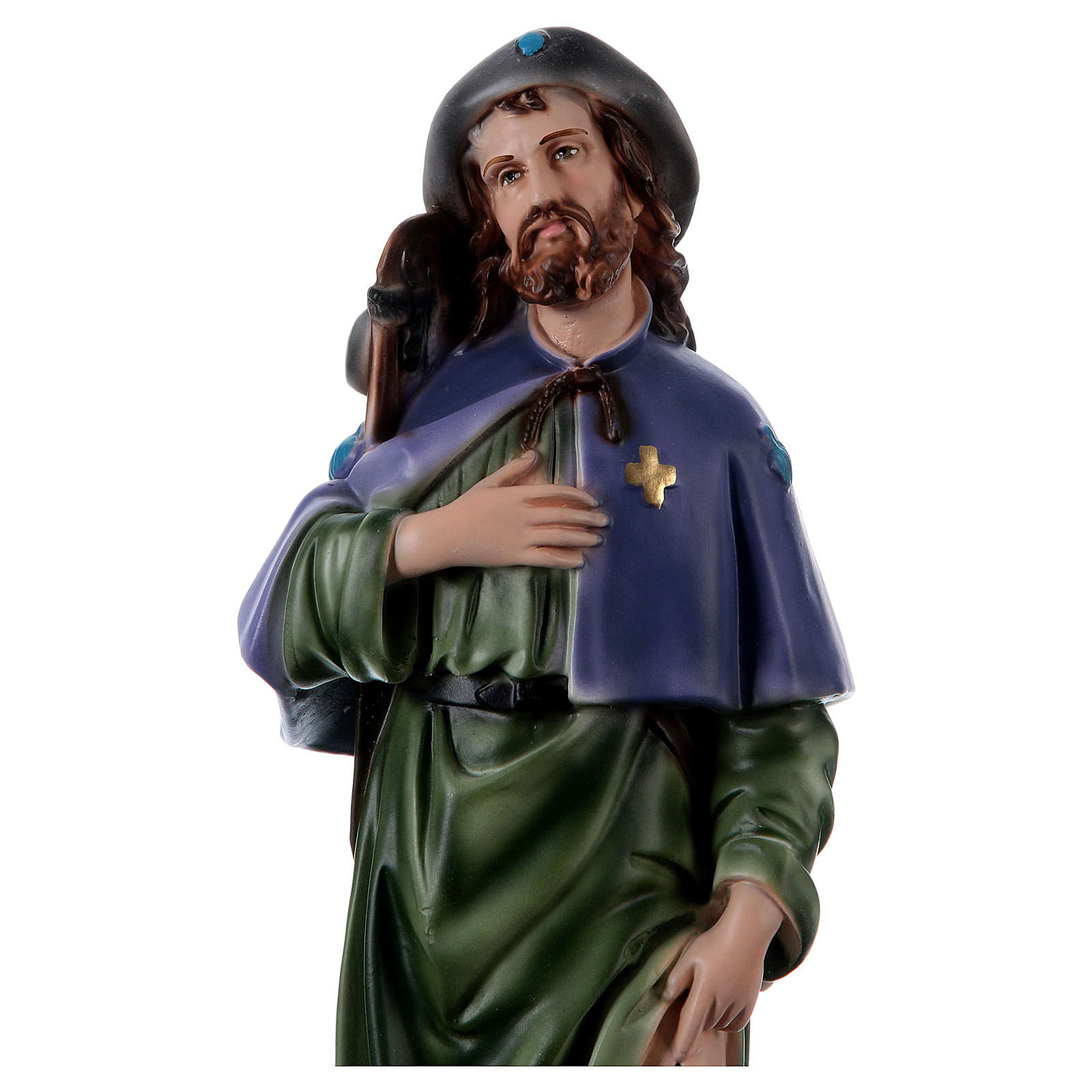 San Rocco 45 cm statua gesso  4