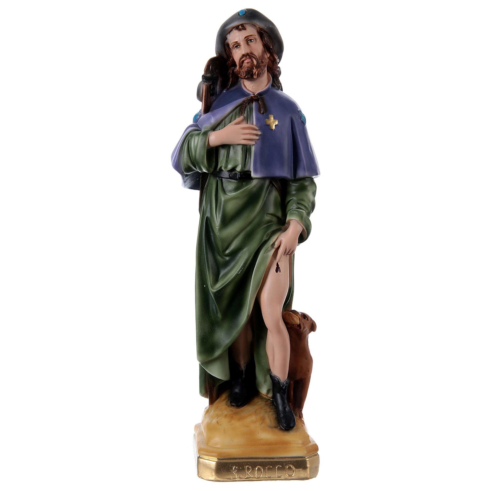 Saint Roch 45 cm Plaster Statue 4