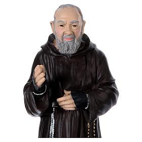 Padre Pio 45 cm in plaster s2
